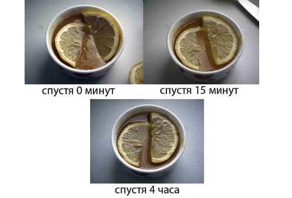 топление меда лимоном