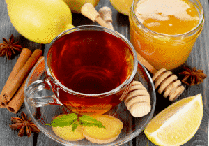 чай имбирь лимон мед