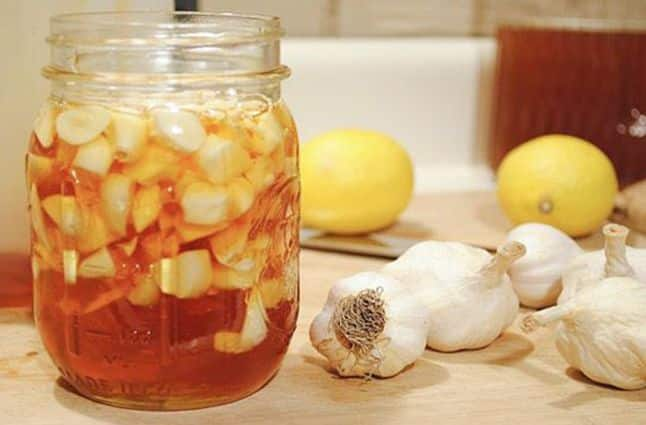 мед с чесноком и уксусом