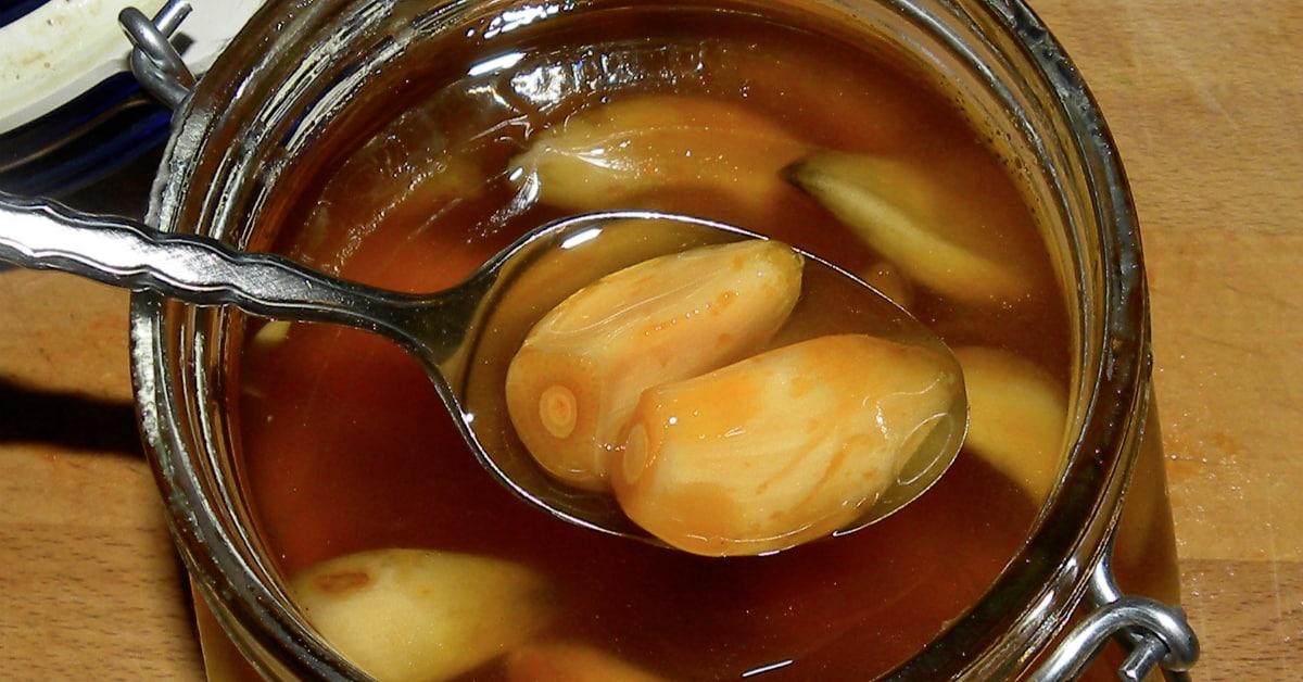 настойка из яблочного уксуса, меда, чеснока и лимона