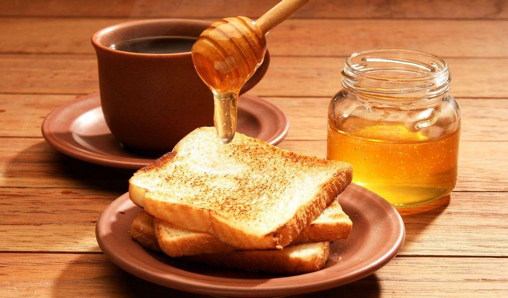 гренки с медом