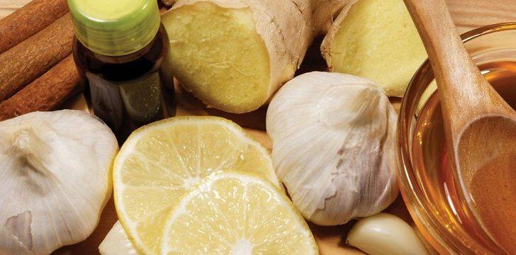 имбирь чеснок мед лимон