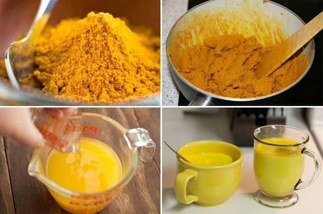 приготовление куркумы с медом и молоком