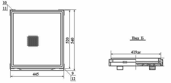 размеры дна с выдвижной сеткой и лотком 10 рамочный 2