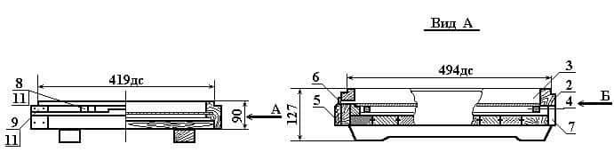 размеры дна с выдвижной сеткой и лотком 10 рамочный