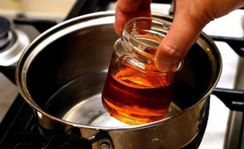 водяная баня и мед