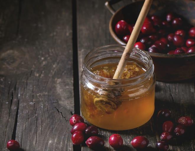 клюква и мед