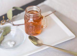 маска с аспирином и медом 2