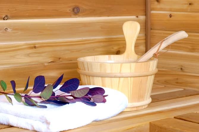 Мед с содой в бане