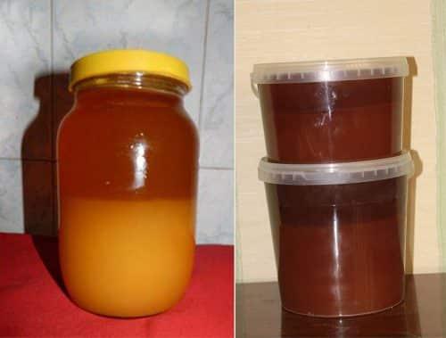 расслоившейся мед